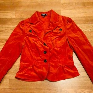 Rafaella Orange Corduroy jacket